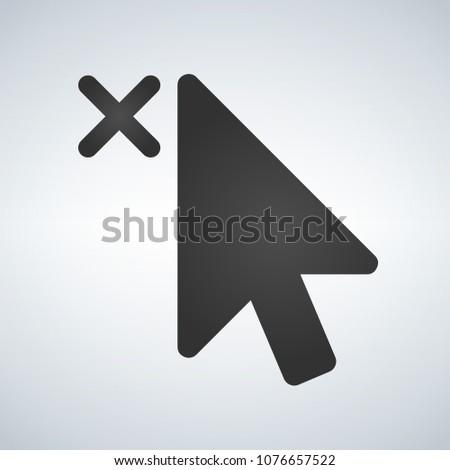 Cursor fechar elemento aplicativos teia ilustração Foto stock © kyryloff