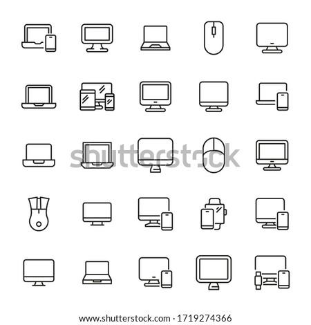 veritabanı · doğrusal · siyah · ikon · yalıtılmış · modern - stok fotoğraf © kyryloff