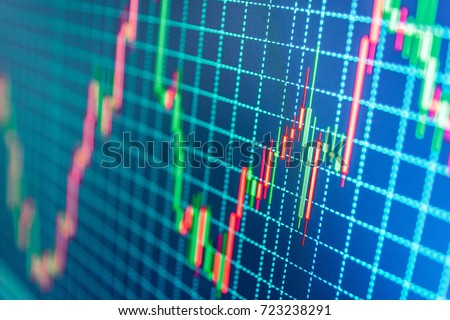 The schedule for changing the stock market graph in a positive direction. The investment economy and Stock photo © m_pavlov