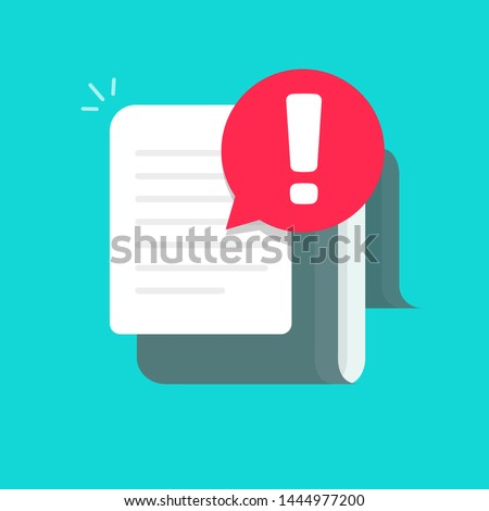 Important Document file vector icon with exclamation mark. flat sign for mobile concept and web desi Stock photo © kyryloff