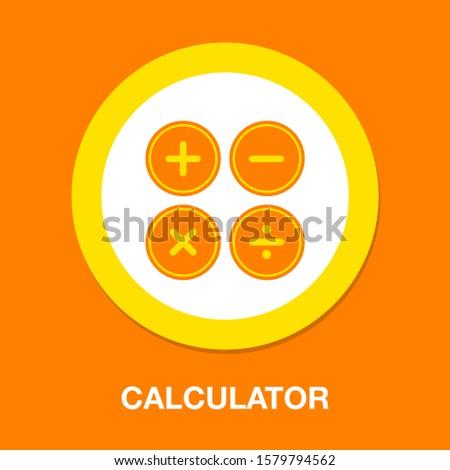 black calculator symbols vector illustration isolated on modern background stock photo © kyryloff