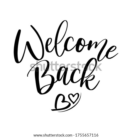 Welcome Back to School slogan graphic for t-shirt design, modern print, vector illustration. Stock photo © ikopylov