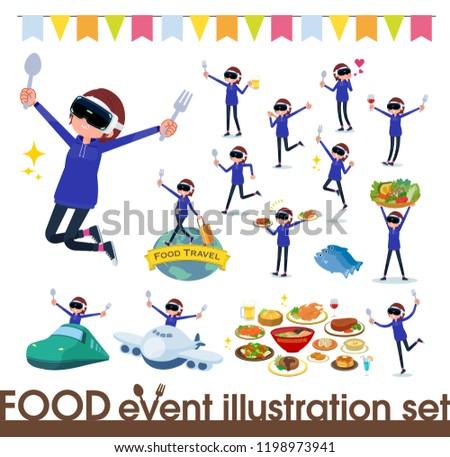 virtual reality goggle women_food festival Stock photo © toyotoyo