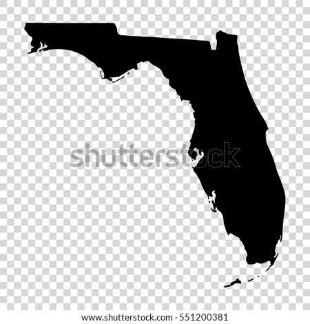 Vector map Florida. Isolated vector Illustration. Black on White background. EPS Illustration. Stock photo © kyryloff