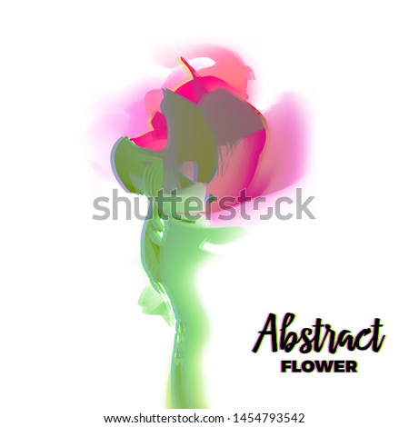 Abstract glitch flower with distorted petal gradient and soft sh Stock photo © SwillSkill