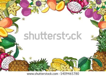 エキゾチック 果物 龍 フルーツ ストックフォト © artjazz