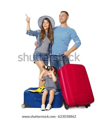 Isolé bleu valise blanche école Photo stock © Imaagio