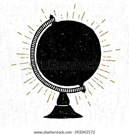 Logo embléma klasszikus kézzel rajzolt utazás kitűző Stock fotó © JeksonGraphics