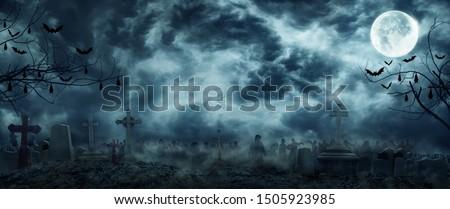 halloween · plakat · nawiedzony · domu · zło · drzewo - zdjęcia stock © ikopylov