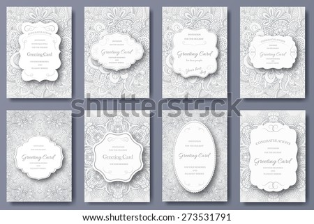 Set of wedding banners pages ornament illustration concept. Vintage art traditional, Islam, arabic,  Stock photo © Linetale