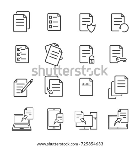 Document Lock icon. Unlock file. Lock file. Secret document. Vector illustration isolated on white b Stock photo © kyryloff