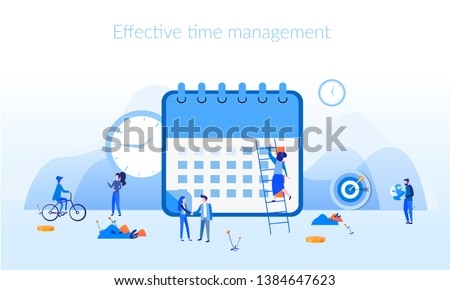 Flat vector design template of task management, schedule, organizer, to do list, message board. Crea Stock photo © makyzz