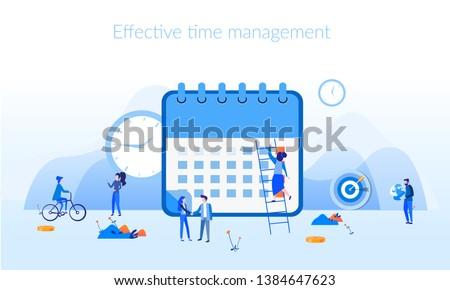 Vektor design sablon feladat vezetőség menetrend szervező Stock fotó © makyzz