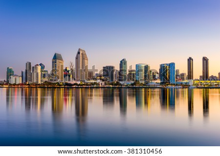 San Diego arranha-céus cityscape edifício fundo Foto stock © gomixer