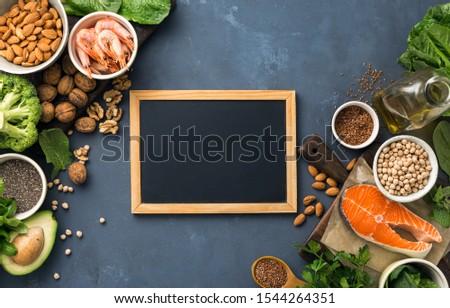 üres · tábla · szöveg · nyers · tengeri · hal · lazac · zöldségek - stock fotó © DenisMArt