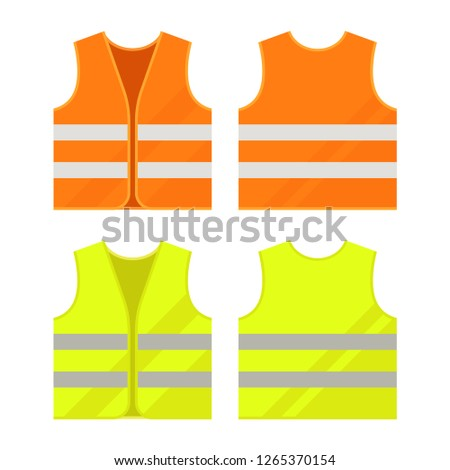 Yellow and light green reflective vests, as a symbol of protests in France against rising fuel price Stock photo © m_pavlov