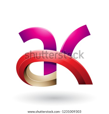 Magenta rouge 3D lettre vecteur illustration Photo stock © cidepix