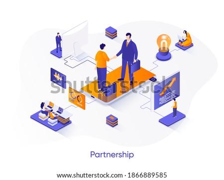 üzlet megállapodás modern színes izometrikus fehér Stock fotó © Decorwithme