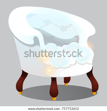 poltrona · nuvens · isolado · cinza · conforto · vetor - foto stock © Lady-Luck