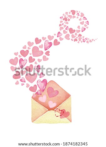 set flying envelopes isolated on a white background sketch of christmas festive poster party invit stock photo © lady-luck