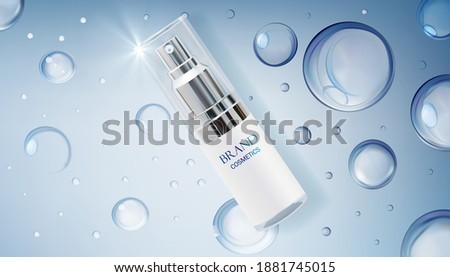 Cosmetic Glass Packaging Vector. Facial Lotion. Soft Spray. Bottle. Jar. 3D Isolated Transparent Rea Stock photo © pikepicture