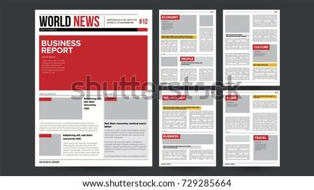 újság vektor valósághű oldalak sablon hírek Stock fotó © pikepicture