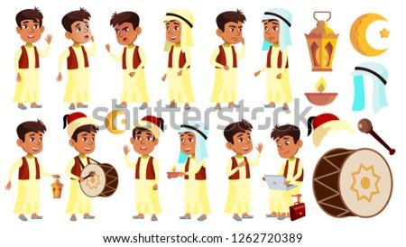 árabes musulmanes nino colegial nino establecer Foto stock © pikepicture