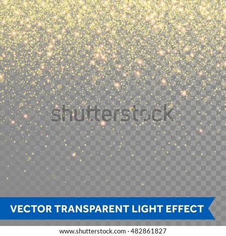 golden glitter sparkle on a transparent background gold vibrant background with twinkle lights vec stock photo © olehsvetiukha