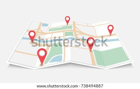 world global pointer map direction, Vector illustration isolated on white background Stock photo © kyryloff