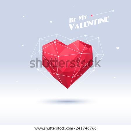 ünneplés · kártya · szív · alakú · boldog · valentin · nap - stock fotó © ikopylov