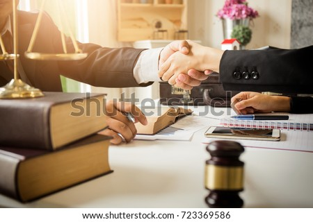 lawyer in office. Counseling and giving advice about legal legis Stock photo © snowing