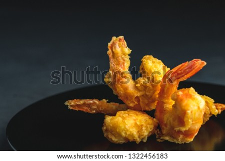 Seafood tempura dish served japanese or eastern Asia style with  Stock photo © artsvitlyna