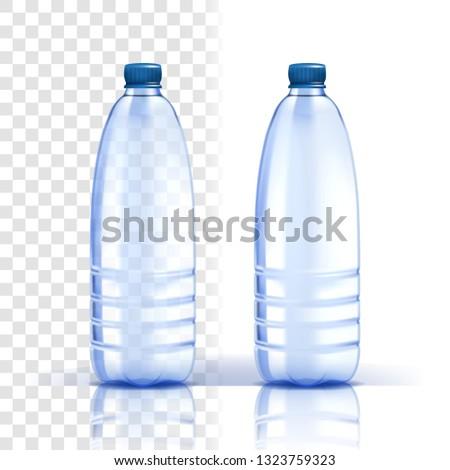 plástico · agua · botellas · iconos · simple · ilustración - foto stock © pikepicture