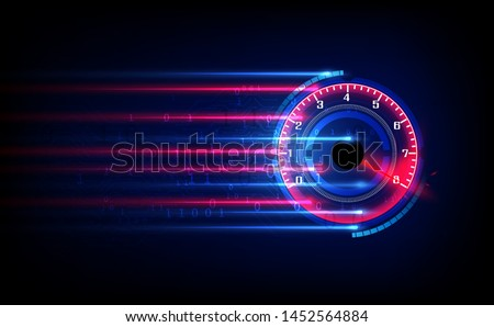 Analog gauge meter in circle for graphic and web design, Modern simple vector sign. Trendy symbol fo Stock photo © kyryloff