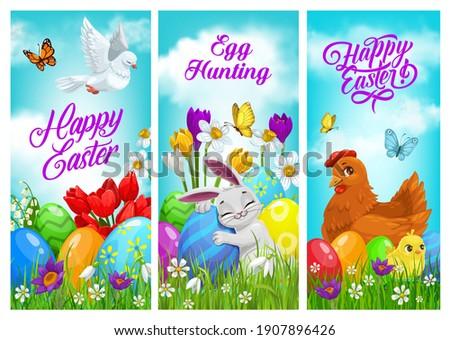 Tavasz kártya virág mezők kék ég vektor Stock fotó © frimufilms