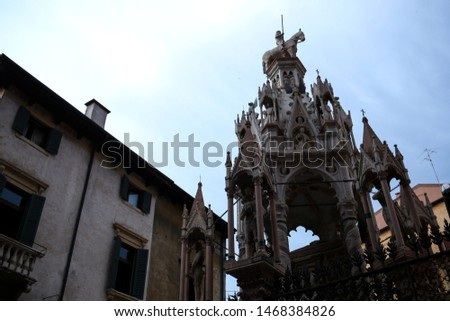 Scaliger Tombs, 14th century gothic funerary monument in Verona, Stock photo © boggy