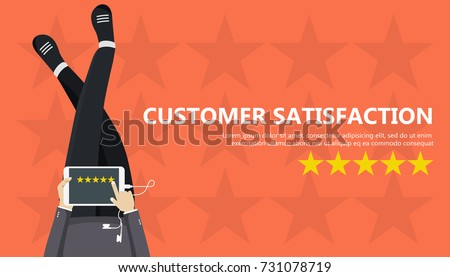 Service rating banner. Concept of feedback, testimonials messages and notifications. Rating on custo Stock photo © makyzz