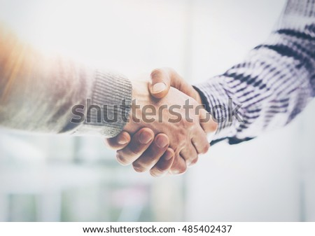 teamwork process blur background young businessmen hands point stock photo © freedomz