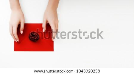 Minimalista divat szépség fotó szeretet levél Stock fotó © serdechny