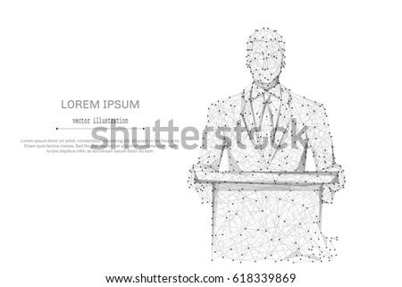 Biznesmen podium konferencji streszczenie digital composite Zdjęcia stock © wavebreak_media