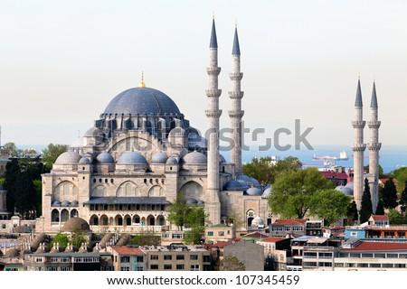 külső · kilátás · mecset · Isztambul · belső · kupola - stock fotó © boggy