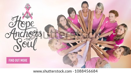Vinden uit meer knop borstkanker vrouw Stockfoto © wavebreak_media