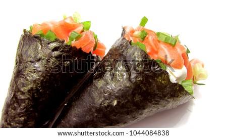Foto stock: Fresco · camarão · branco · prato · verde