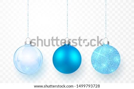 Niebieski błyszczący blask przezroczysty christmas Zdjęcia stock © olehsvetiukha