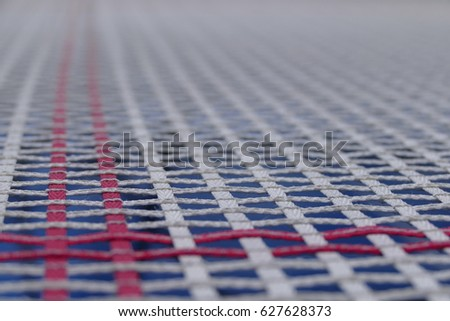 Trampoline mesh or bed - background picture to use as a texture to represent activity, bounce or exe Stock photo © galitskaya