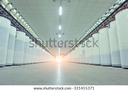 Coarse cotton factory in spinning production line and a rotating machinery and equipment production  Stock photo © Kucheruk