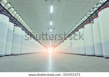 Kaba pamuk fabrika üretim hat makinalar Stok fotoğraf © Kucheruk