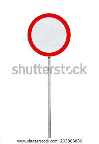 Road signs isolated on white background. Prohibition and speed limit signs. High quality traffic roa Stock photo © ukasz_hampel