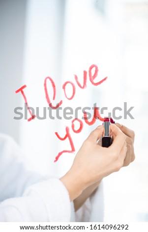 El genç aşk kadın yazı sevmek Stok fotoğraf © pressmaster