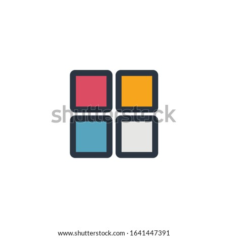 Four squares logo design. Grid, vector can be used for admin panels, website, interfaces, mobile app Stock photo © kyryloff